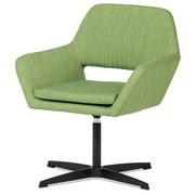 Kreslo Mark - zelená, Moderný, kov/textil (65/74/53cm)