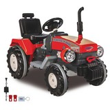 Kindertraktor Ride-On Power Drag Rot - Rot/Schwarz, Basics, Kunststoff (107/55,5/67cm)