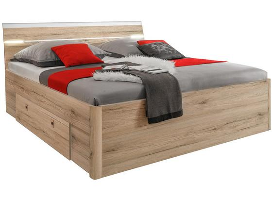bett mars 140x200 san remo eiche online kaufen m belix. Black Bedroom Furniture Sets. Home Design Ideas