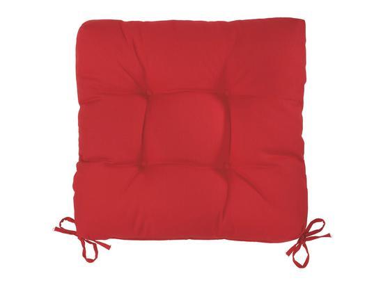 Sedák Elli-hit- - červená, textil (40/40/7cm) - Based