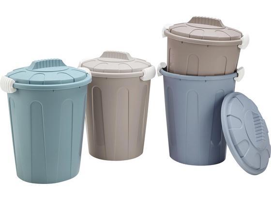 Koš Odpadkový Stella - petrolej/modrá, umělá hmota (35/45cm) - Mömax modern living