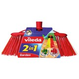 Vileda Außenbesen 2in1 Garden - Rot, KONVENTIONELL, Kunststoff (36/17/5,5cm) - Vileda