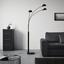 Stojacia Lampa Dorian - čierna, Štýlový, kov (110/210cm) - Premium Living