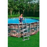 Schwimmbecken Power Steel Pool - Blau/Weiß, MODERN, Kunststoff/Metall (427/122cm) - Bestway