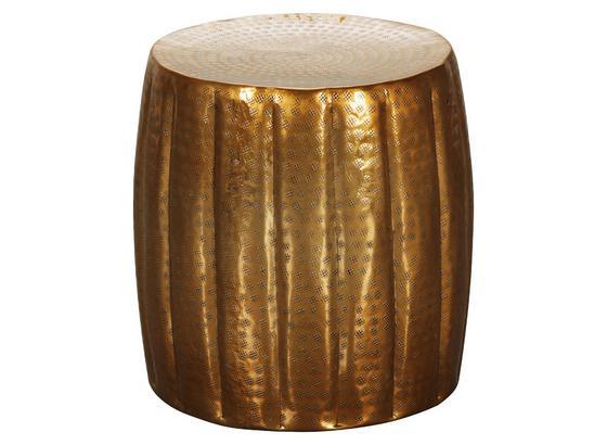 Beistelltisch Aus Handarbeit Jamal Goldfarben - Goldfarben, LIFESTYLE, Metall (38/38/42cm) - Livetastic