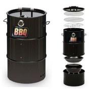 Grilltonne Barbecue 4-In-1 43x36x66 cm - Schwarz, Basics, Metall (43/36/66cm)