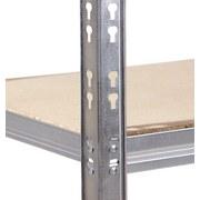 Schwerlastregal Strong 100/190/50 Grau - Grau, KONVENTIONELL, Holzwerkstoff/Metall (100/198/50cm)