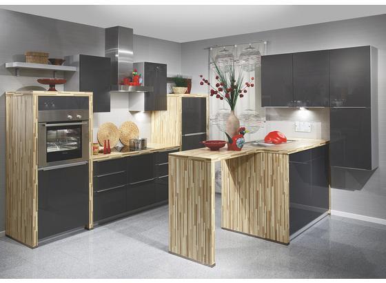 Kuchyně Na Míru Fargo - bílá/černá, Moderní, kompozitní dřevo