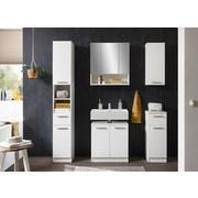 Badezimmer Bob 5-Teilig Weiß - Weiß, Basics, Holzwerkstoff (166/196/33cm) - Xora