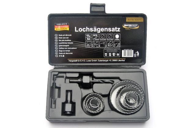 Lochsägensatz 11-teilig - Silberfarben, KONVENTIONELL, Metall