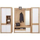 Garderobenkombination Kashmir New 4 - Eichefarben/Weiß, MODERN, Holzwerkstoff (274/192/41cm) - James Wood