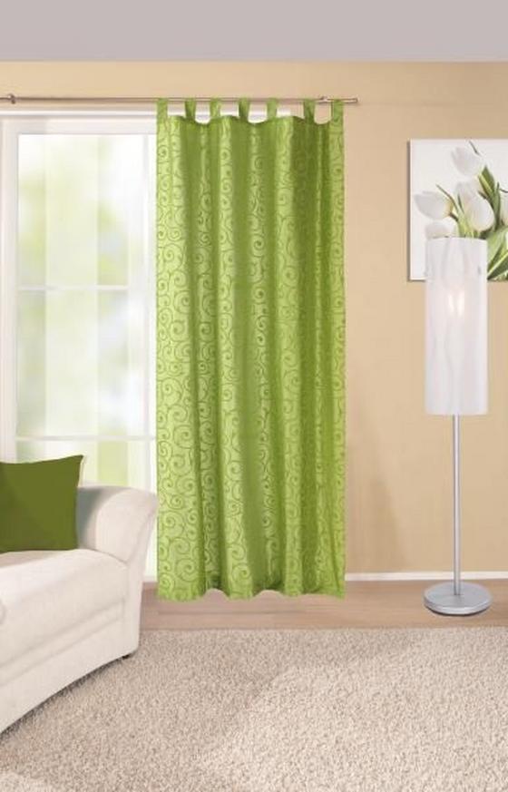Készfüggöny Elegance - zöld, konvencionális, textil (140/255cm) - Ombra
