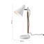 Stolní Lampa Veronika - bílá/hnědá, Moderní, kov/dřevo (55cm) - Modern Living