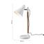 Stolová Lampa Veronika - hnedá/biela, Moderný, kov/drevo (55cm) - Modern Living