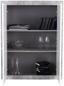 Komoda Highboard Malta - bílá/šedá, Moderní, dřevěný materiál (96/132/35cm)