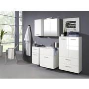 Spiegelschrank Blanco 60 cm Weiß - Weiß, MODERN, Glas/Holzwerkstoff (60/69/20cm)