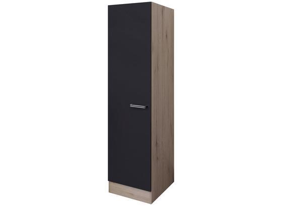 Skříňka Na Nádobí Milano - barvy dubu/antracitová, Moderní, kompozitní dřevo (50/200/57cm)