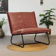 Sessel Paris Bench B: 83 cm Rosa - Schwarz/Rosa, MODERN, Textil (83/83/75cm) - Livetastic