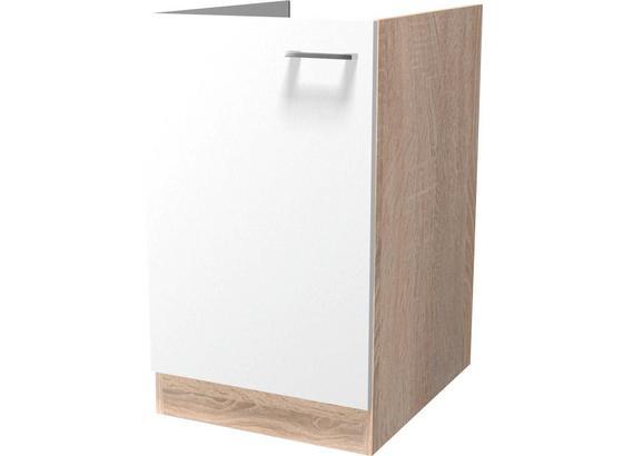 Dřezová Skříňka Samoa  Spu 50-1 - bílá/barvy dubu, Konvenční, kompozitní dřevo (50/86/57cm)
