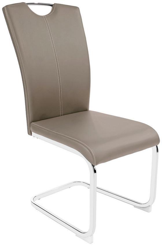 Houpací Židle Conny - bílá/barvy chromu, Moderní, kov/textil (44/96,5/59cm)