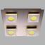 LED-Deckenleuchte Cayman,4-flammig - Nickelfarben, MODERN, Kunststoff/Metall (28/28/7cm)
