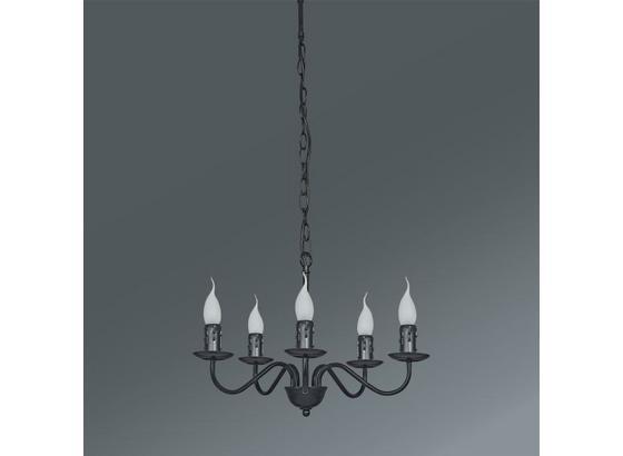 Svítidlo Závěsné Klara - černá, Romantický / Rustikální, kov (46/81cm) - Mömax modern living