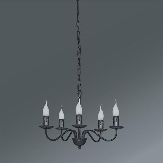 Závesná Lampa Klara - čierna, Romantický / Vidiecky, kov (46/81cm) - Mömax modern living