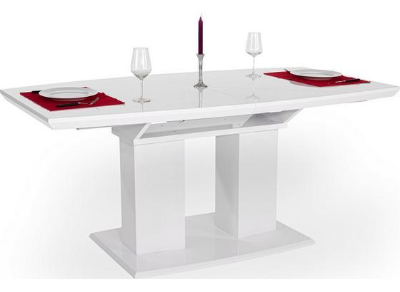 Výsuvný Stôl Malvin 180 Az - biela, Moderný, kompozitné drevo (180/76/90cm)