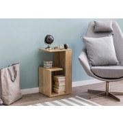 Beistelltisch B: ca. 35 cm Sonoma Eiche - Sonoma Eiche, Design, Holzwerkstoff (35/61/30cm) - Livetastic