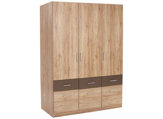 Skříň Šatní Aalen-extra - šedá, Konvenční, kompozitní dřevo (136/197/54cm)
