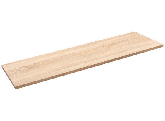 Nástenná Polica Skate 120/30 - dub sonoma, Moderný, kompozitné drevo (120/1,8/30cm)