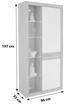 Vitrine Malta - Eichefarben/Schwarz, MODERN, Glas/Holzwerkstoff (96/197/35cm)