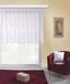 Blumenfensterstore Andrea - Weiß, KONVENTIONELL, Textil (450/145cm) - Ombra