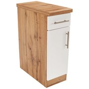 Küchenunterschrank Stella Us30 - Eichefarben/Weiß, Holzwerkstoff (30/86/57cm) - Ombra