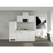 Küchenblock Wito 210cm Weiß - Weiß, MODERN, Holzwerkstoff (210/60cm) - FlexWell.ai