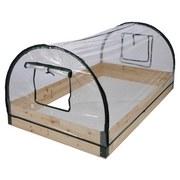 Gewächshaus B: 80 cm mit Holzrahmen - Transparent, Basics, Holz/Kunststoff (80/50/120cm)