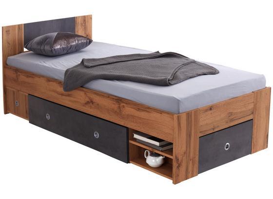 Bett Azurro 90 - Erlefarben, MODERN, Holzwerkstoff (204/75/95cm)