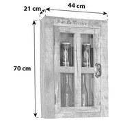 Hängeschrank Brion B: 44 cm Mangoholz - Schwarz/Naturfarben, Basics, Glas/Holz (44/70/21cm) - MID.YOU