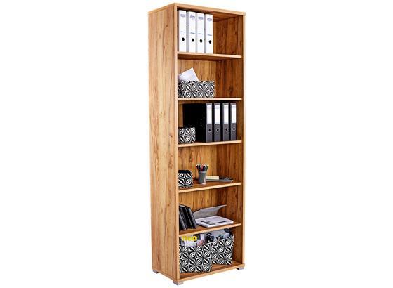 Regál Na Zložky Profi - farby dubu, Moderný, kompozitné drevo (75/220/35cm) - Ombra