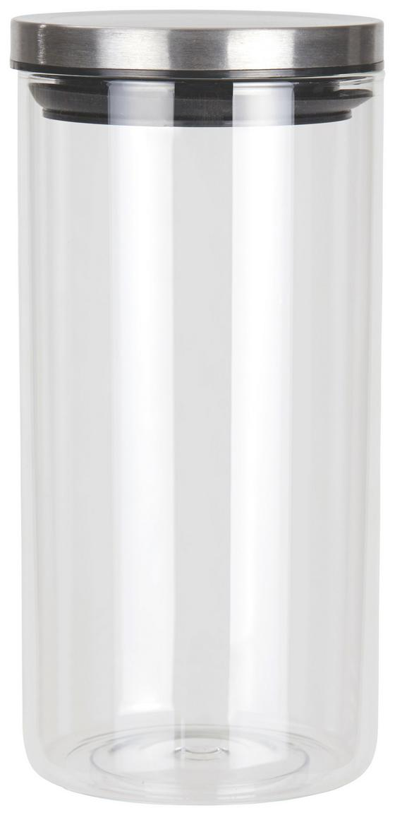 Frischhaltedose Catleen, Gr. M - Klar/Edelstahlfarben, KONVENTIONELL, Glas/Metall (10,2/21cm) - Luca Bessoni