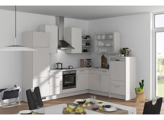 Eckküche Fargo 285x220cm Weiß/Seidengrau - Weiß/Grau, MODERN, Holzwerkstoff (285/220cm) - Vertico