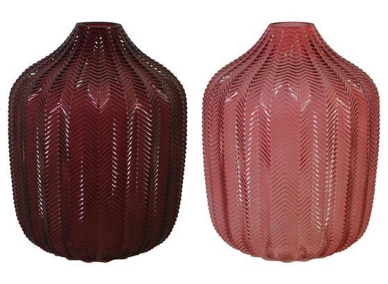 Vase Romana - Aubergine/Rosa, Design, Glas (17,3/22,3cm)
