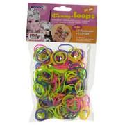 Schmuckbastelset Funny Loops - Blau/Gelb, Basics, Kunststoff (15/9/12cm)