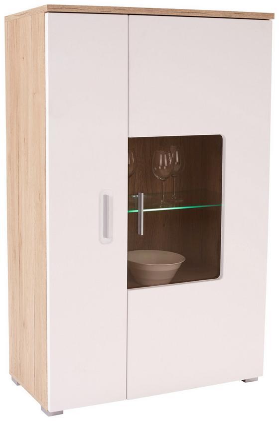 Vitrin Livorno New - tiszta/tölgy színű, konvencionális, faanyagok (90/142/38cm)