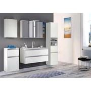 Waschtischkombi mit Soft-Close Arezzo B: 100cm, Weiß - Weiß, Basics, Holzwerkstoff/Stein (100/54/47cm) - Livetastic