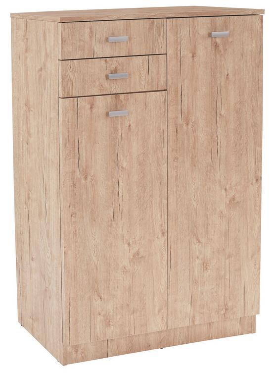 Cipősszekrény Peter - tölgy színű, modern, faanyagok (80,2/120,5/33,4cm)