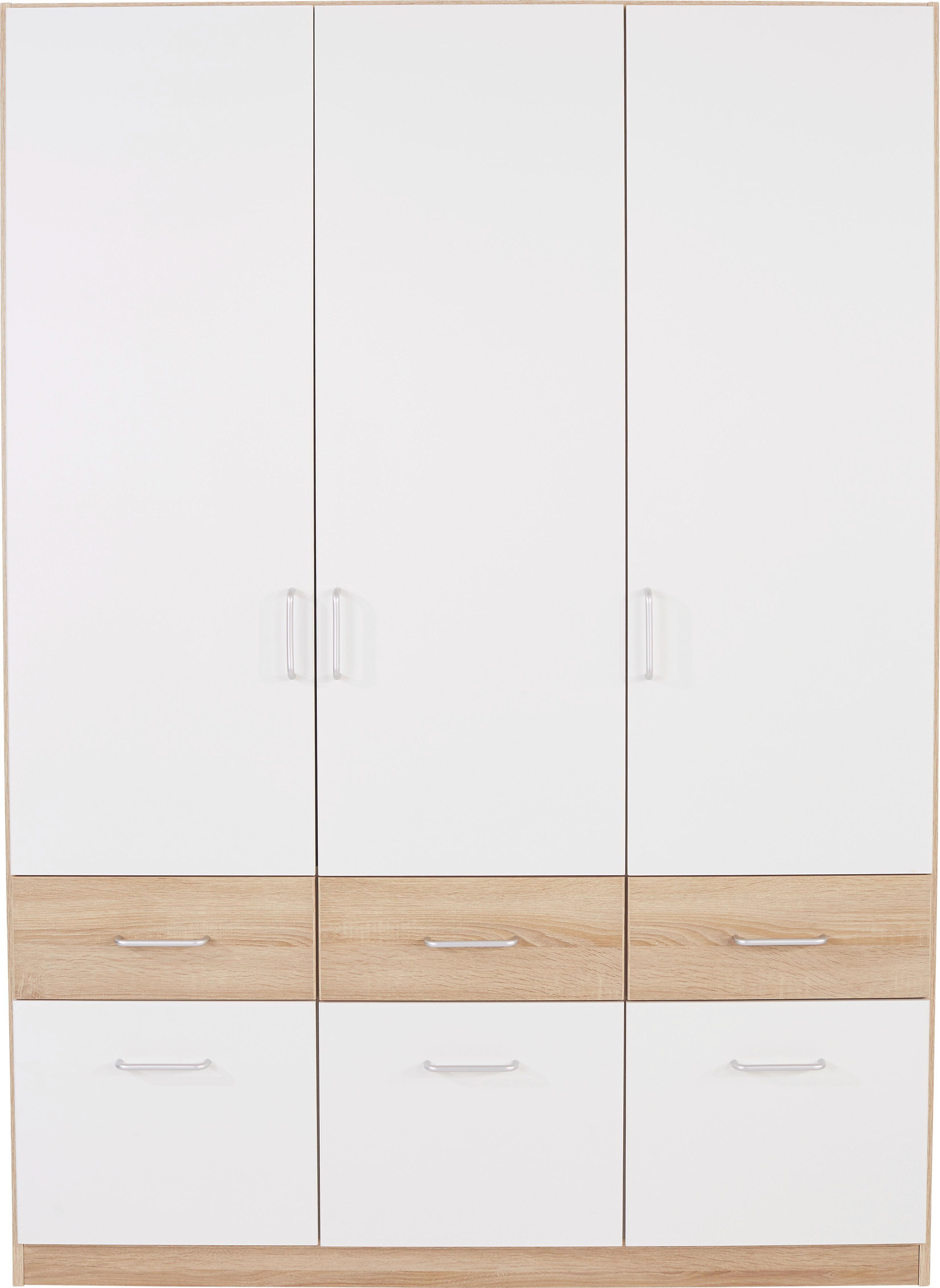 Ruhásszekrény Aalen-extra - fehér, konvencionális, faanyagok (136/197/54cm)