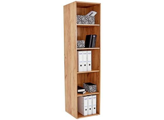 Regál Tio - farby dubu, Moderný, kompozitné drevo (45/183/35cm)