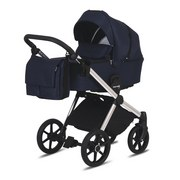 Kinderwagenset Life B: 57 cm Dunkelblau - Chromfarben/Dunkelblau, Basics, Textil/Metall (57/118/105cm) - Knorr
