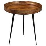 Couchtisch B: 50 cm Braun/Schwarz - Schwarz/Braun, Basics, Holz/Metall (50/52cm)